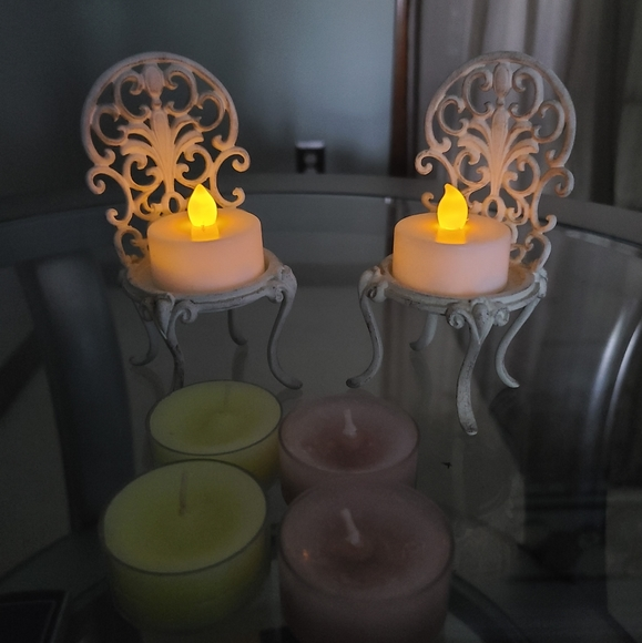 Vintage Table Top PartyLite Metal Candle Holders